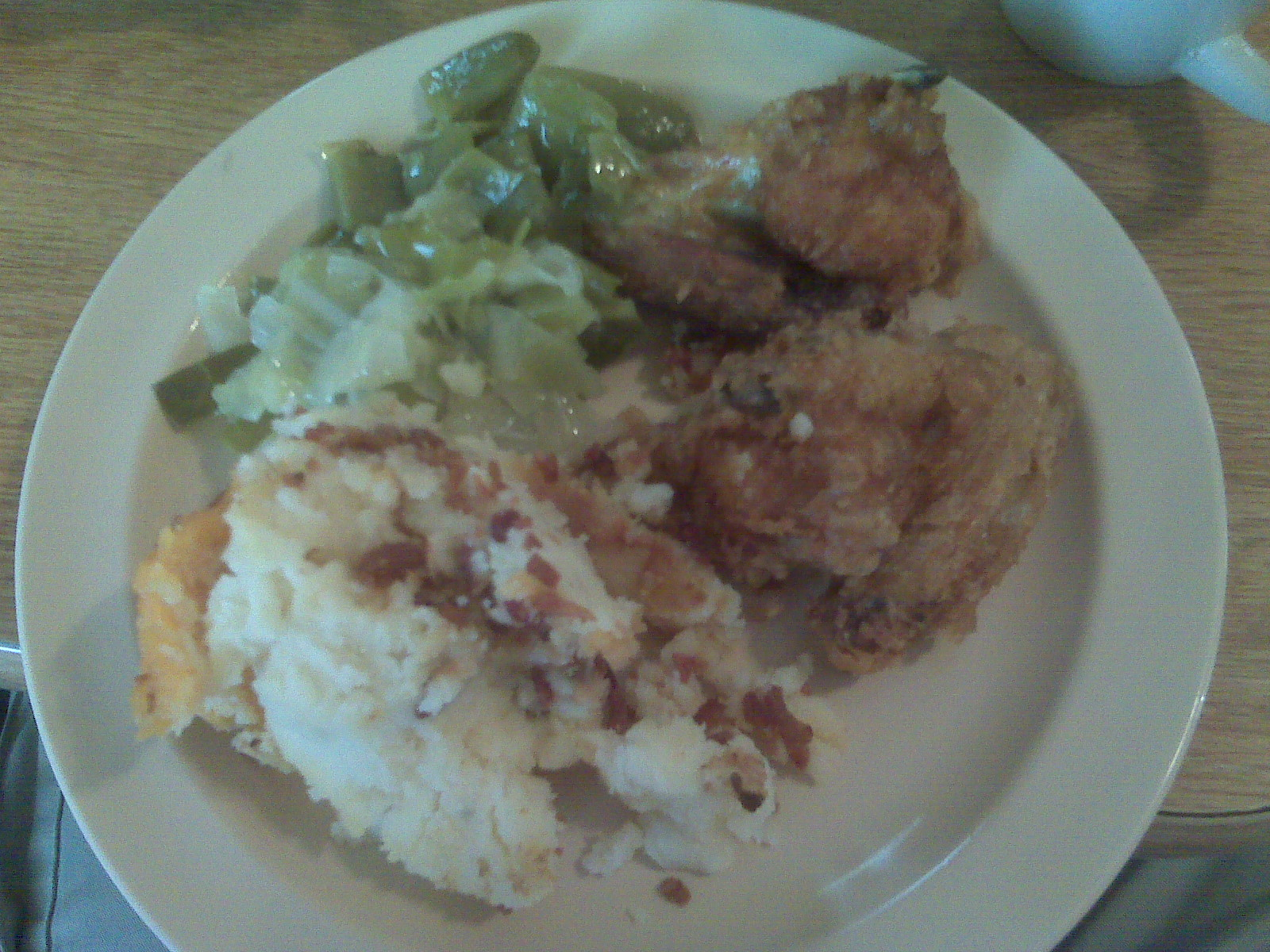Fried Chicken & Cabbage